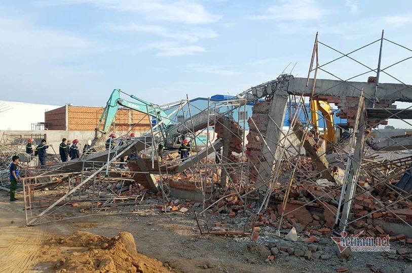 Chủ tịch tỉnh Đồng Nai chỉ đạo khẩn vụ sập tường công trình 10 người chết