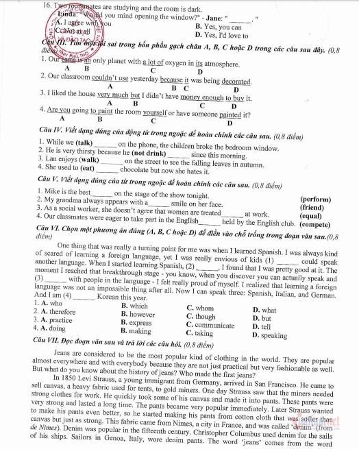 Đề tham khảo kỳ thi tuyển sinh lớp 10 năm học 2020-2021 của Phú Thọ