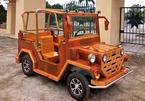Độc đáo chiếc Jeep gỗ chạy động cơ xe máy Honda của dân chơi Thái Nguyên