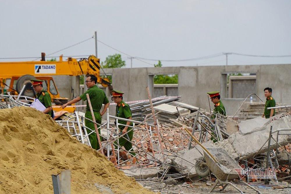 Vụ sập tường 10 người chết, tạm giữ giám đốc và 2 người bên thi công