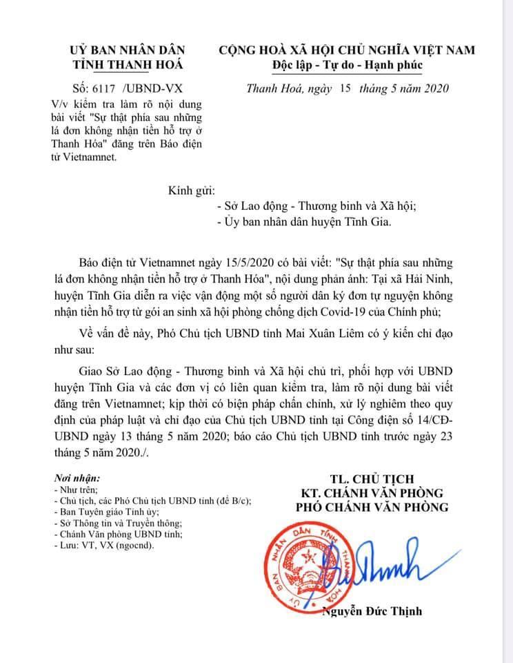 Vụ ký đơn không nhận hỗ trợ ở Thanh Hóa: Hộ cận nghèo có nhà tiền tỷ