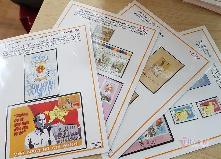 Độc đáo người phụ nữ hơn 20 năm sưu tập hàng ngàn con tem về Bác Hồ