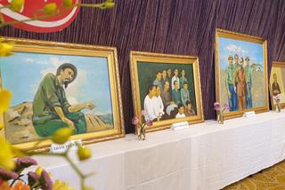 Hoạ sĩ Thái Hoà triển lãm 100 bức tranh vẽ Bác Hồ trong 5 năm
