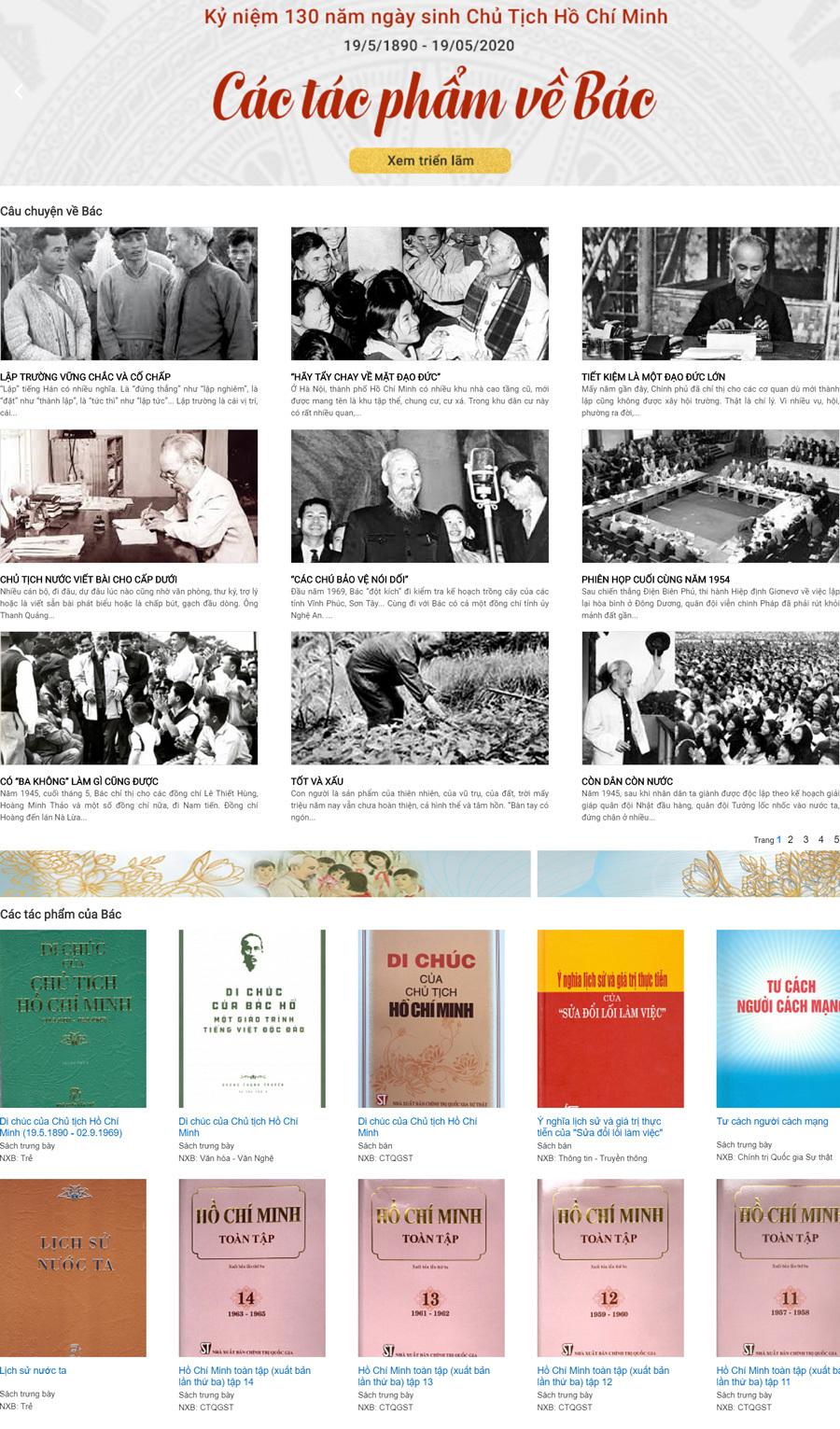 Trưng bày trực tuyến bộ 5 tác phẩm bảo vật quốc gia của Bác Hồ