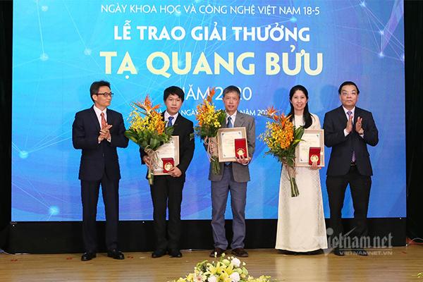 3 nhà khoa học nhận giải thưởng Tạ Quang Bửu 2020