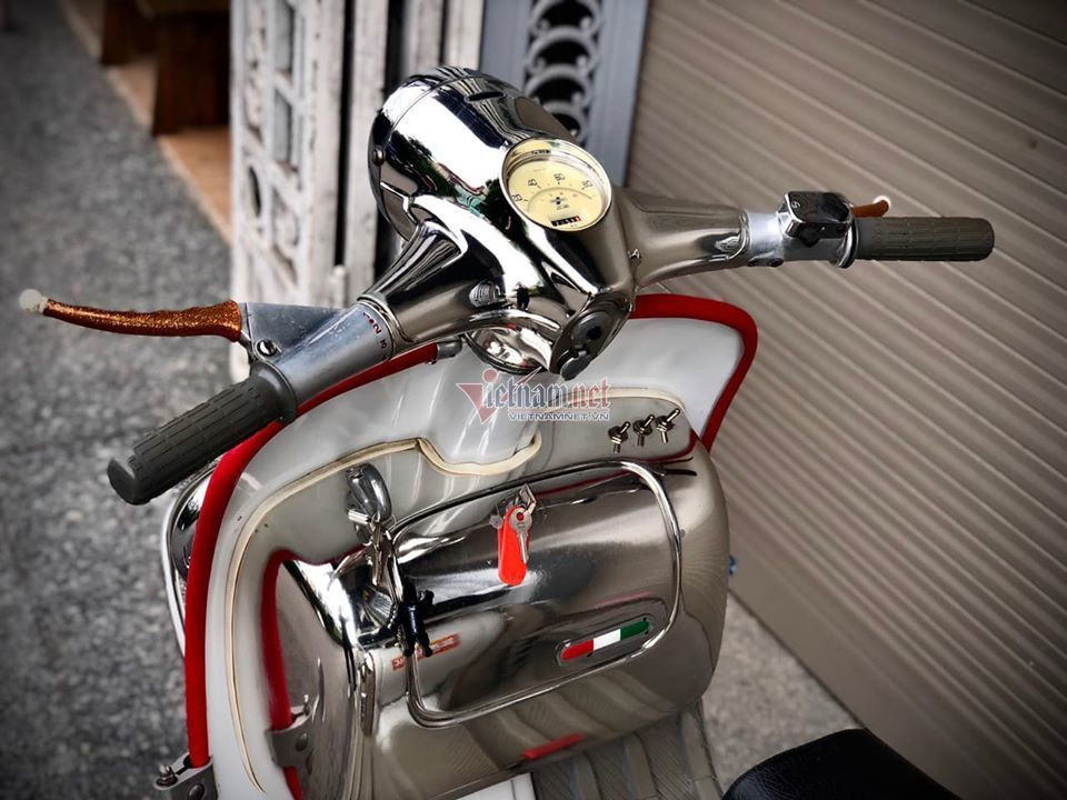 Xe máy cổ Lambretta hơn 60 tuổi giá 456 triệu ở Hà Nội