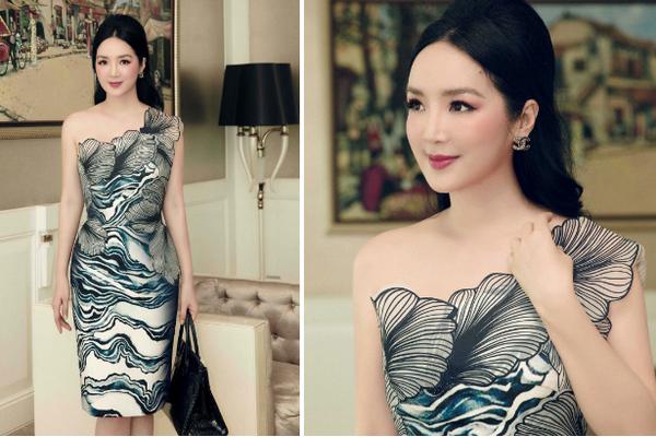 Hoa hậu Giáng My khoe nhan sắc tươi trẻ tuổi 49