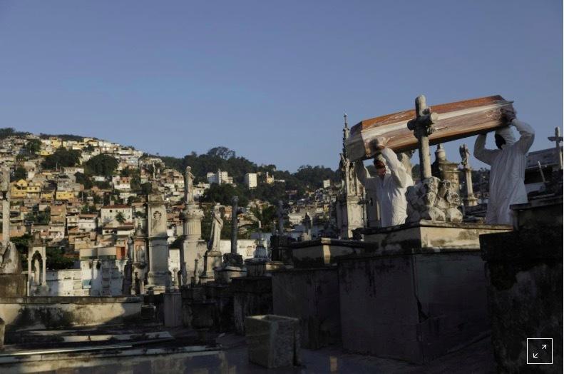 Người chết cao kỷ lục, Brazil sớm thành ổ dịch thứ 2 toàn cầu