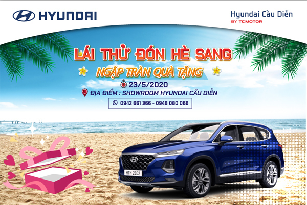 Cơ hội lái thử 5 mẫu xe hàng đầu của Huyndai