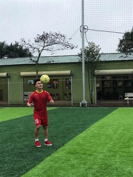 Community football centre,midfielder Quang Hai,QH19 Football Academy