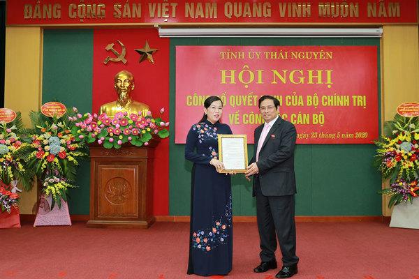 Bà Nguyễn Thanh Hải làm Bí thư Tỉnh ủy Thái Nguyên