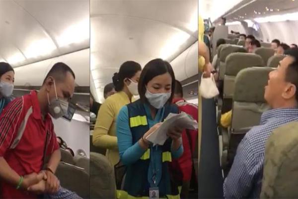 Nam hành khách mắng xối xả tiếp viên, từ chối ký biên bản xử phạt
