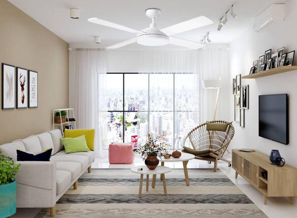 10 mẫu quạt trần đẹp cho chung cư trần thấp