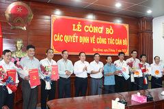 Hậu Giang điều động, bổ nhiệm hàng loạt lãnh đạo chủ chốt