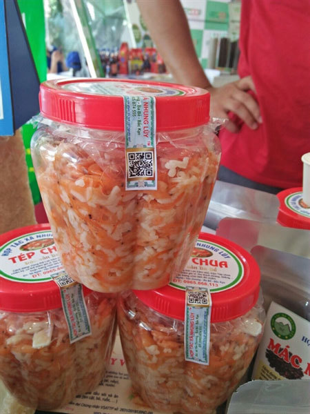 Ba Be fermented sour shrimp - a must try in Bac Kan
