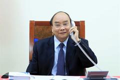 Vietnamese, Philippine leaders hold phone talks