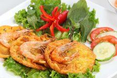 Vietnamese food: Shrimp cake