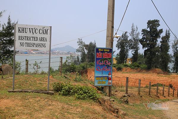'Xẻ' đất hành lang đường tuần tra ven biển kinh doanh ăn nhậu chui