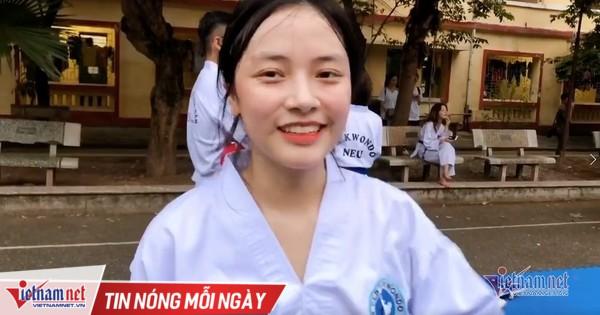 Vẻ xinh xắn, đáng yêu của nữ sinh câu lạc bộ Taekwondo trường kinh tế