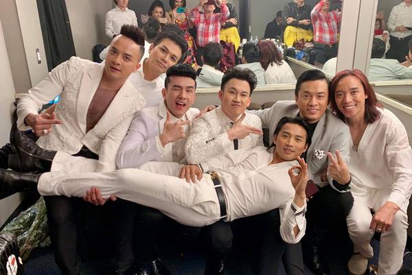 Ảnh hậu trường của Đan Trường, Lam Trường, Mạnh Quỳnh