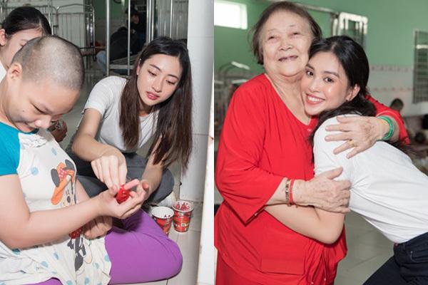 Hoa hậu Tiểu Vy, Lương Thuỳ Linh tặng quà trẻ mồ côi nhân ngày 1/6