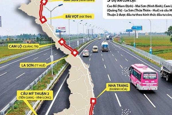 Xin chuyển 8 dự án cao tốc sang đầu tư công, chỉ đồng ý 3