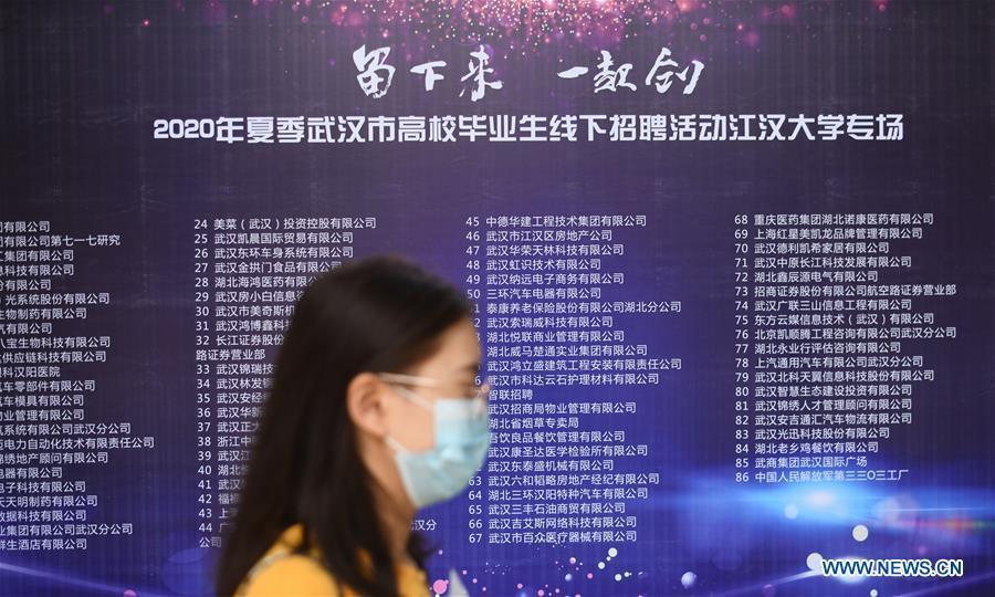 Vũ Hán tổ chức hội chợ việc làm cho sinh viên sau dịch Covid-19