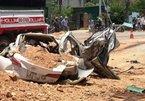 Xe tải đè xế hộp bẹp dúm ở Thanh Hóa: 3 người thương vong trong 1 gia đình