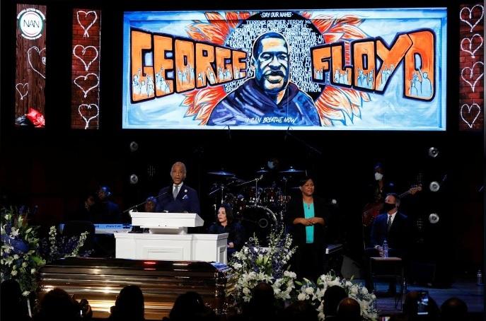 Hình ảnh lễ mặc niệm George Floyd