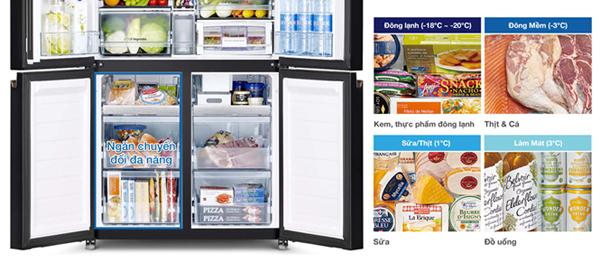 Hitachi ra mắt tủ lạnh 4 cửa với ngăn chân không độc đáo