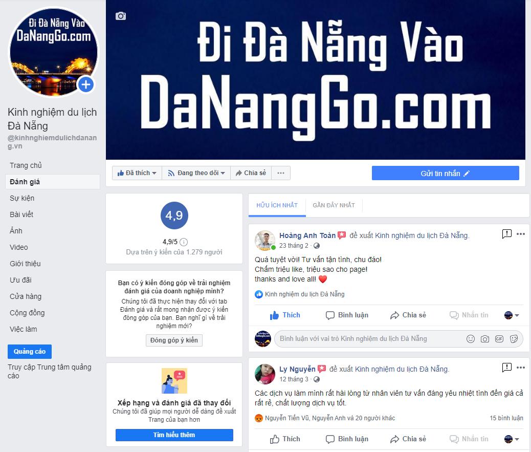 Bí quyết 'nghìn like' của fanpage Kinh nghiệm du lịch Đà Nẵng