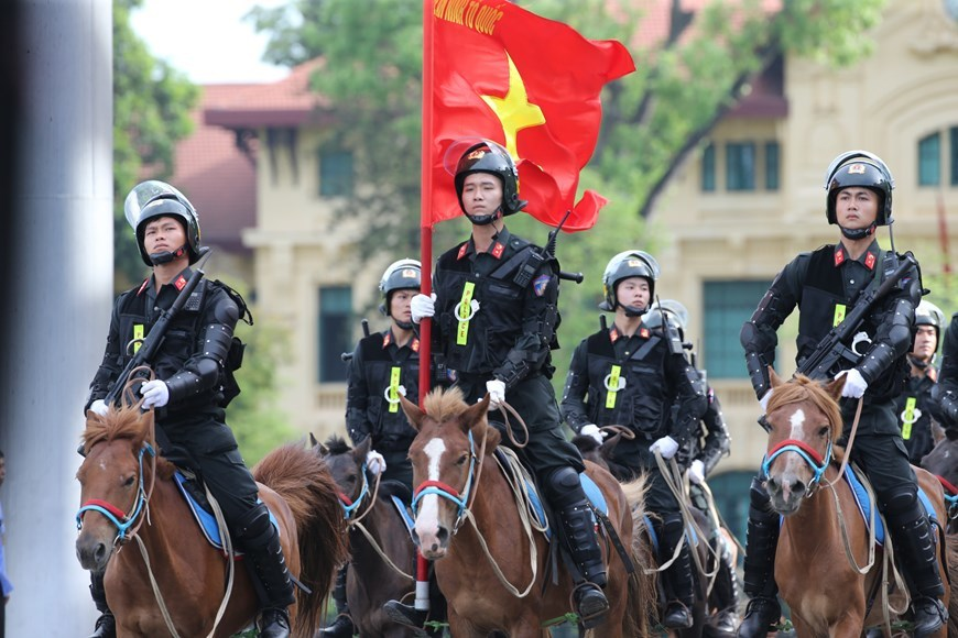 Cavalry mobile police force makes debut in Vietnam