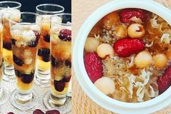 Chè nấm tuyết hạt sen táo đỏ thanh mát ngày nóng