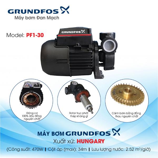 Mua bơm cũ giá cao - Sở hữu máy bơm mới Grundfos