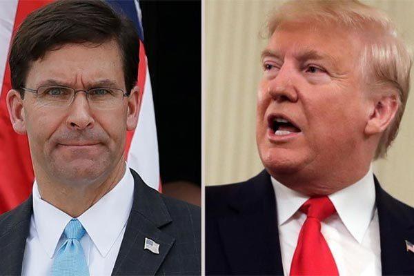 Ông Trump lộ ý định cách chức Bộ trưởng Quốc phòng Mỹ vì biểu tình