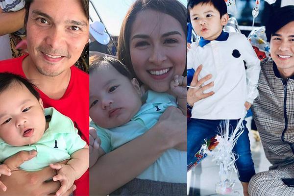 Vợ Đan Trường khoe ảnh vợ chồng diễn viên Marian Rivera bế con trai