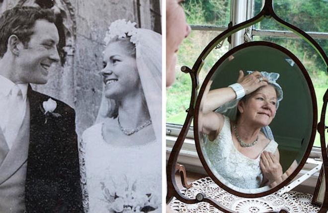Giúp phụ nữ trẻ lại khi tái hiện khoảnh khắc mặc váy cưới