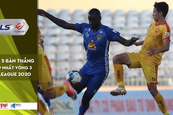 Top 5 bàn thắng đẹp nhất vòng 3 V-League 2020