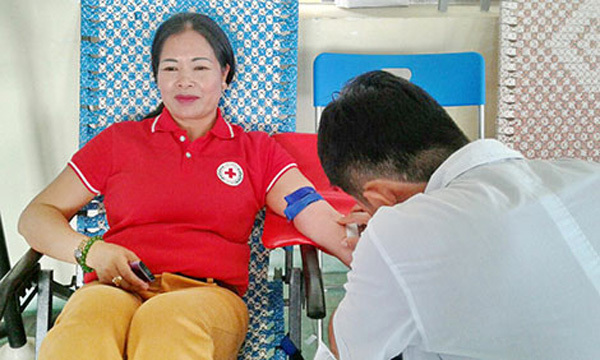 Blood donor saves lives