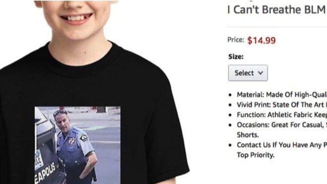 Amazon,T-shirt showing George Floyd death,world news