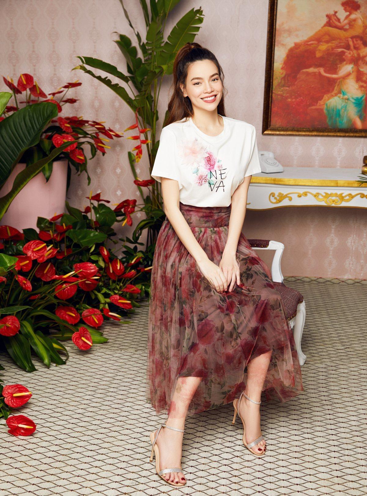 Phong cách thời trang nữ tính của Hồ Ngọc Hà