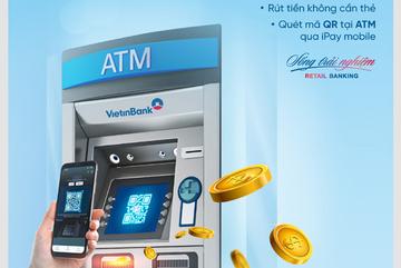 Rút tiền không cần thẻ, chỉ cần quét mã QR tại ATM