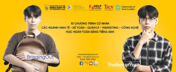 Khoa Quốc tế - ĐH Quốc gia Hà Nội tuyển sinh 2 ngành mới
