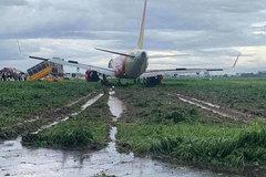 Máy bay Vietjet trượt khỏi đường băng Tân Sơn Nhất
