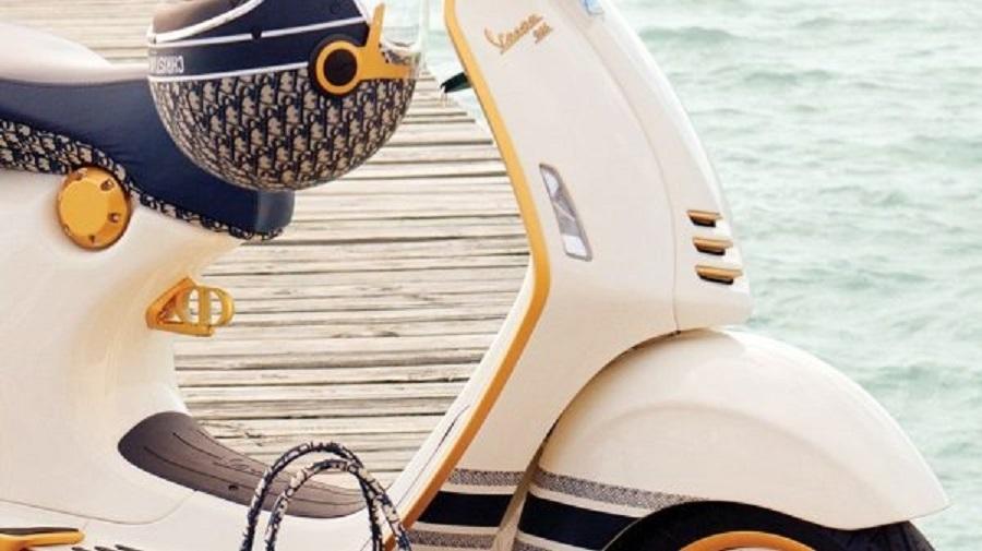 Vespa bắt tay với Dior sáng tạo mẫu xe tay ga đẹp mê hồn