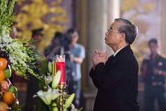 Lãnh đạo Đảng, Nhà nước viếng nhà tình báo huyền thoại Trần Quốc Hương