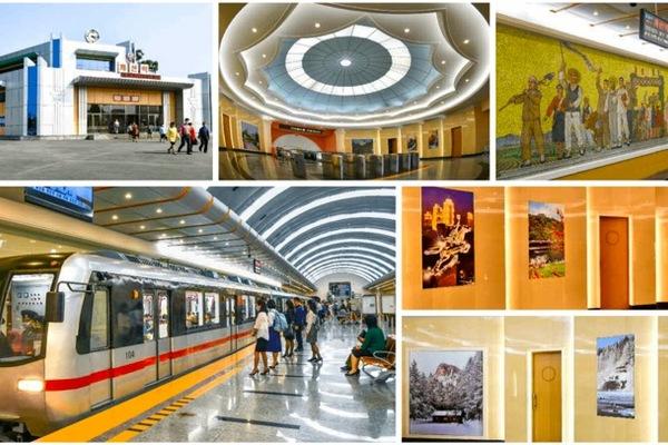 Triều Tiên công bố ảnh hiếm về hai ga tàu mới nâng cấp