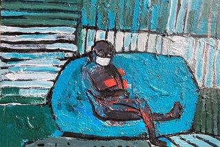 Social distancing paintings on display in Hanoi