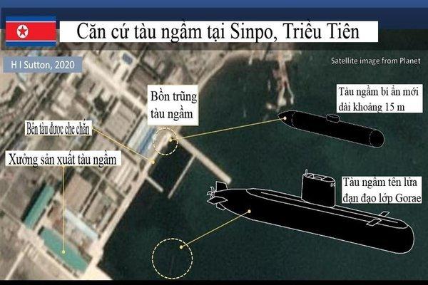 Lộ ảnh Triều Tiên chế tạo tàu ngầm mới