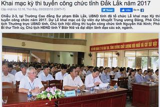 Phát hiện nhiều bài bị sửa điểm trong kỳ thi tuyển công chức tỉnh Đắk Lắk